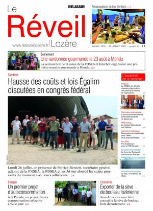 La couverture du journal Le R�veil Loz�re n°1372 | ao�t 2016