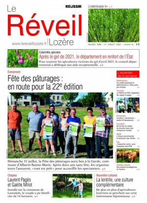 La couverture du journal Le R�veil Loz�re n°1369 | juillet 2016