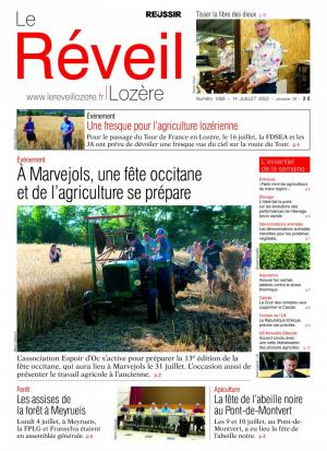 La couverture du journal Le R�veil Loz�re n°1373 | ao�t 2016